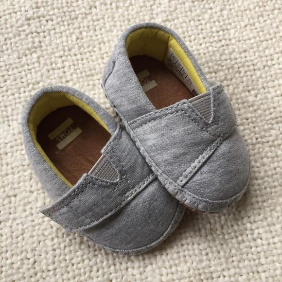 Sale Toms Grey Jersey Tiny Toms | Poshmark